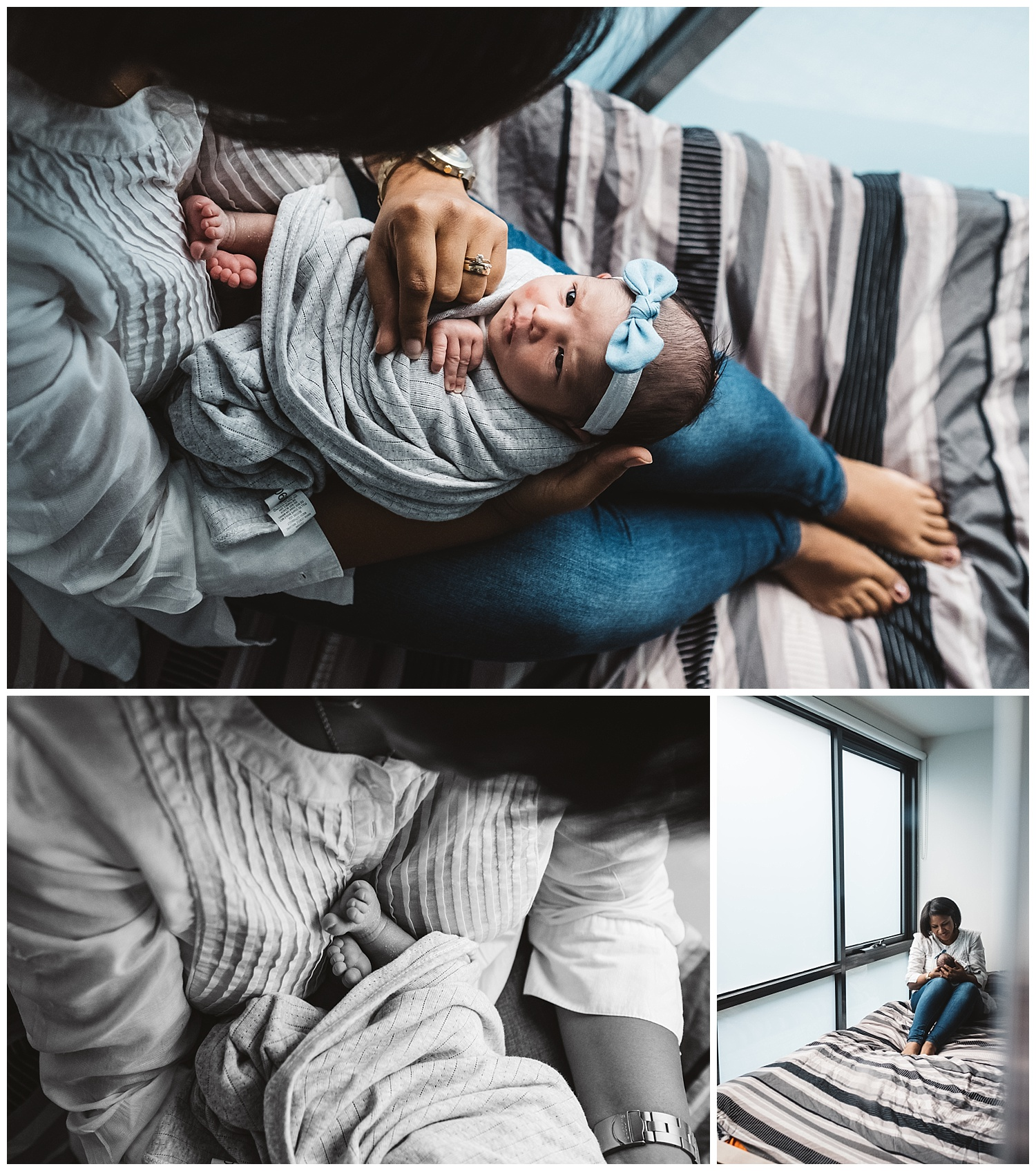 Brunswick east family lifestyle photography and baby photography at home. Mother holding her baby