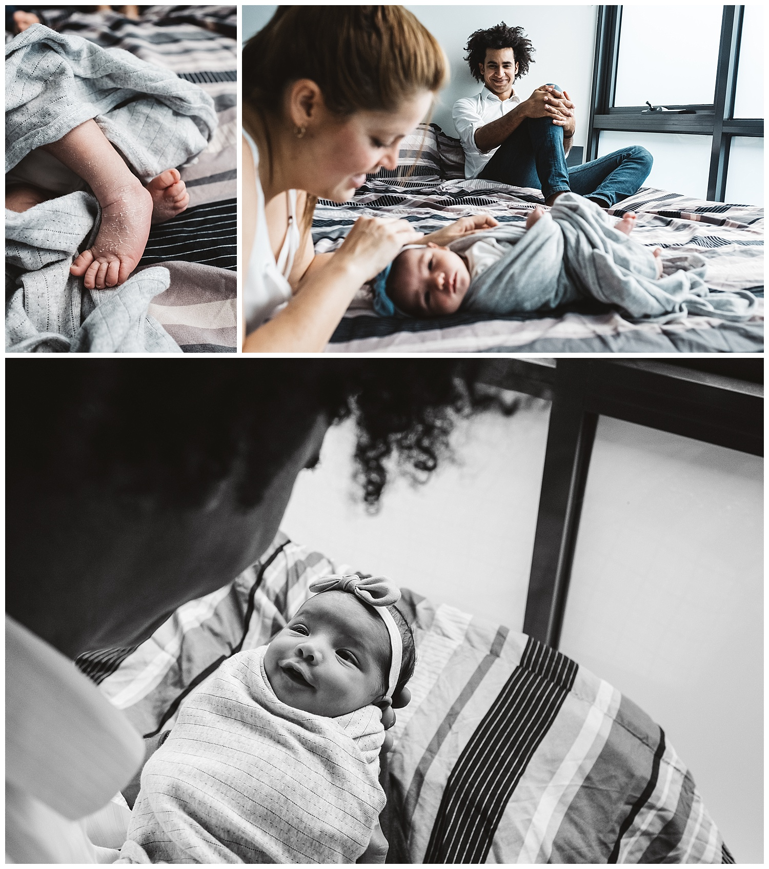 newborn baby girl and parents in Carlton north and melbourne inner city.