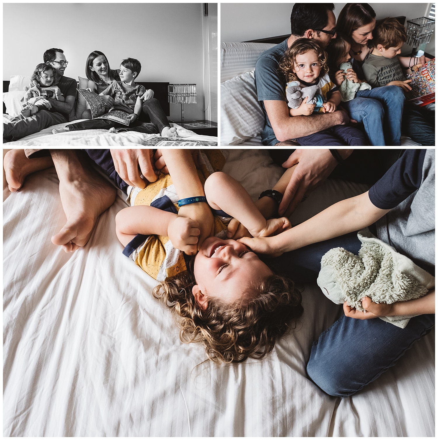 Port Melbourne family portraits and newborn family photography