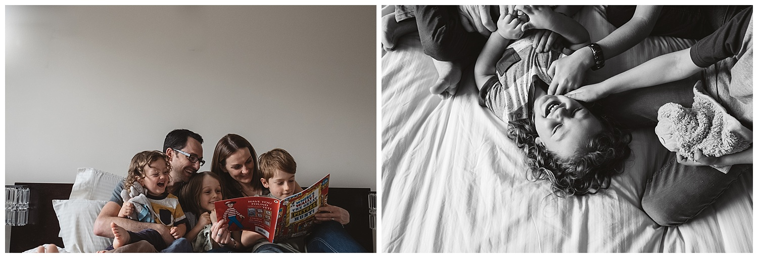 Organic family lifestyle photography, natural smiles and genuine emotion portraiture in Port Melbourne
