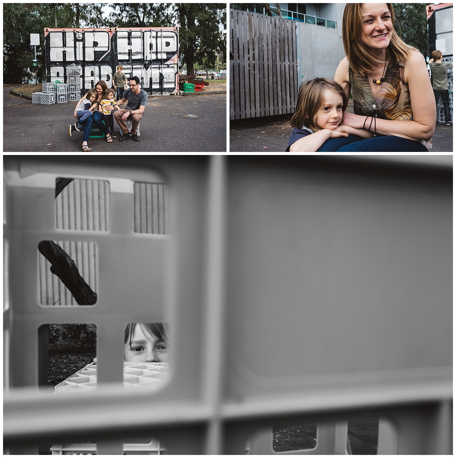 five great places for family photos in Port Melbourne and south Melbourne.