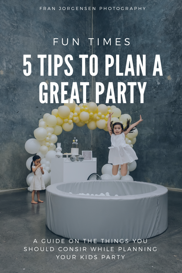 great things to keep in mind when planning a kids birthday party.