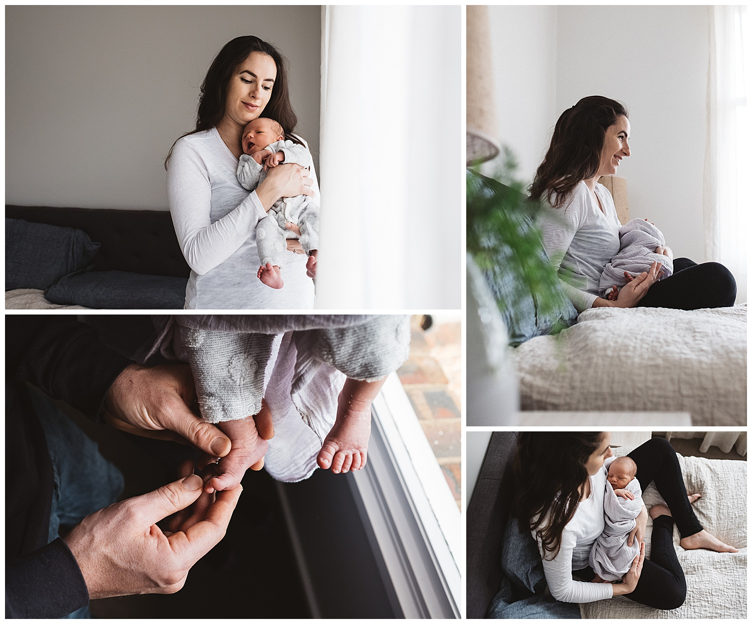 lifestyle photography and in-home newborn photos melbourne