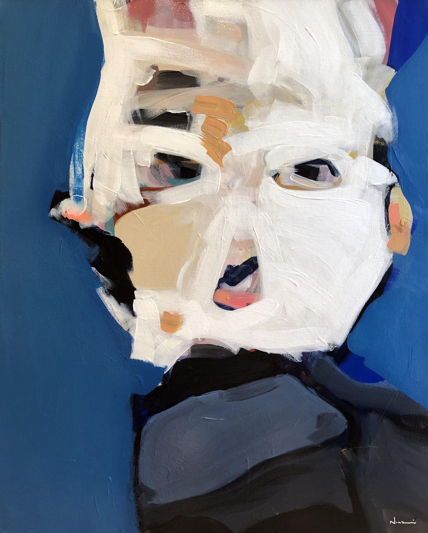 Nunzio Miano,  Bound By The Past , 2019. Acrylic on canvas, 80cm(h) x 65cm(w), $2200.