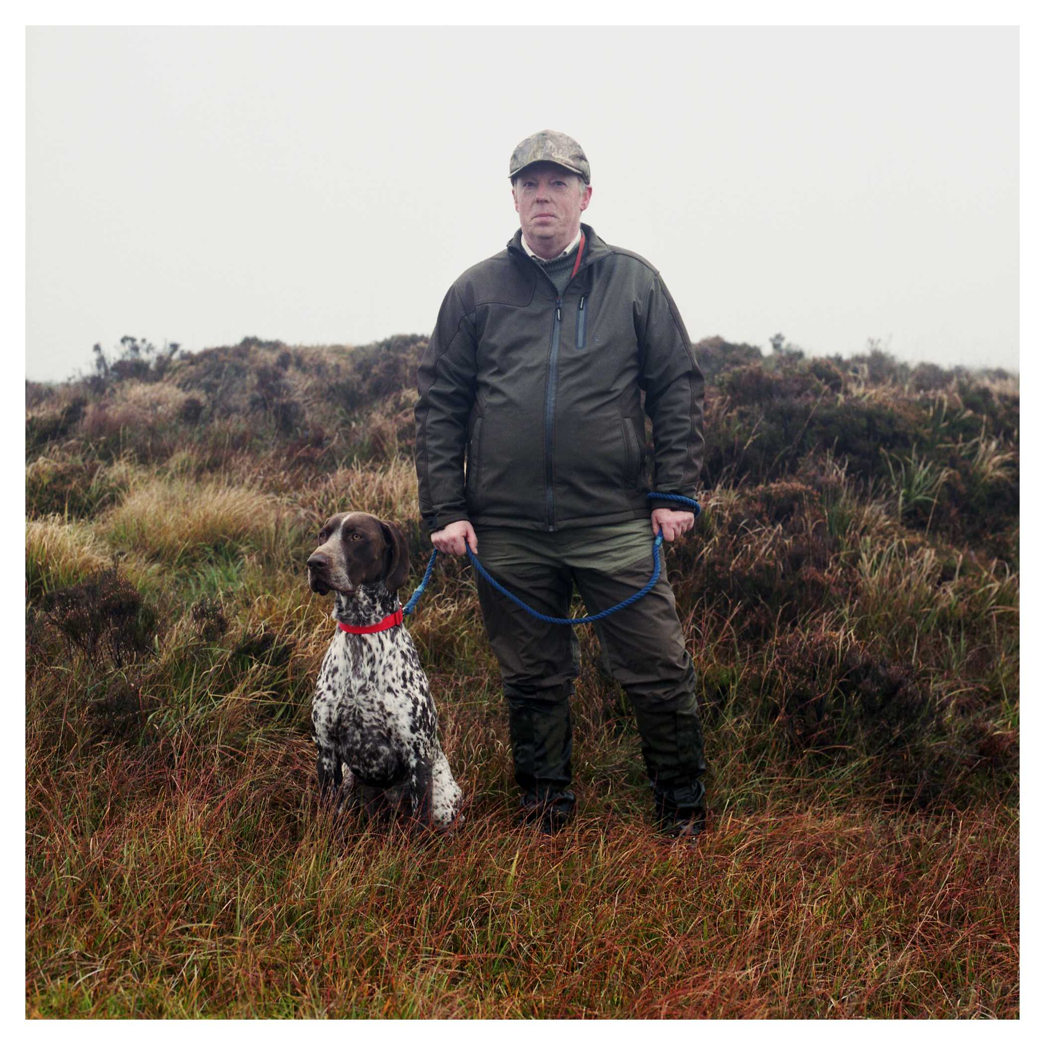 Colm McDaid with German Short Haired Pointer - Flint.