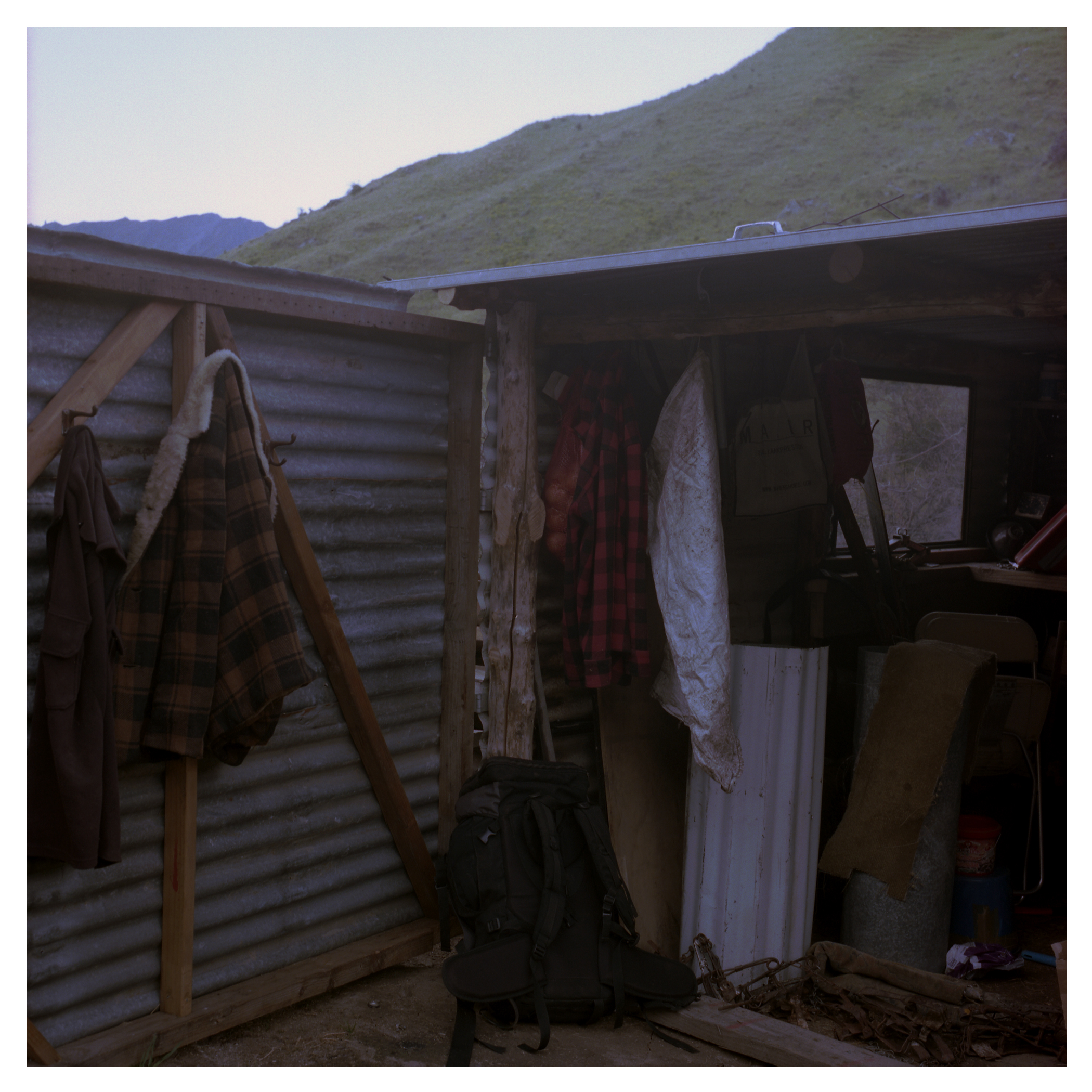 Ty's shed where he keeps his hunting gear and possum traps.