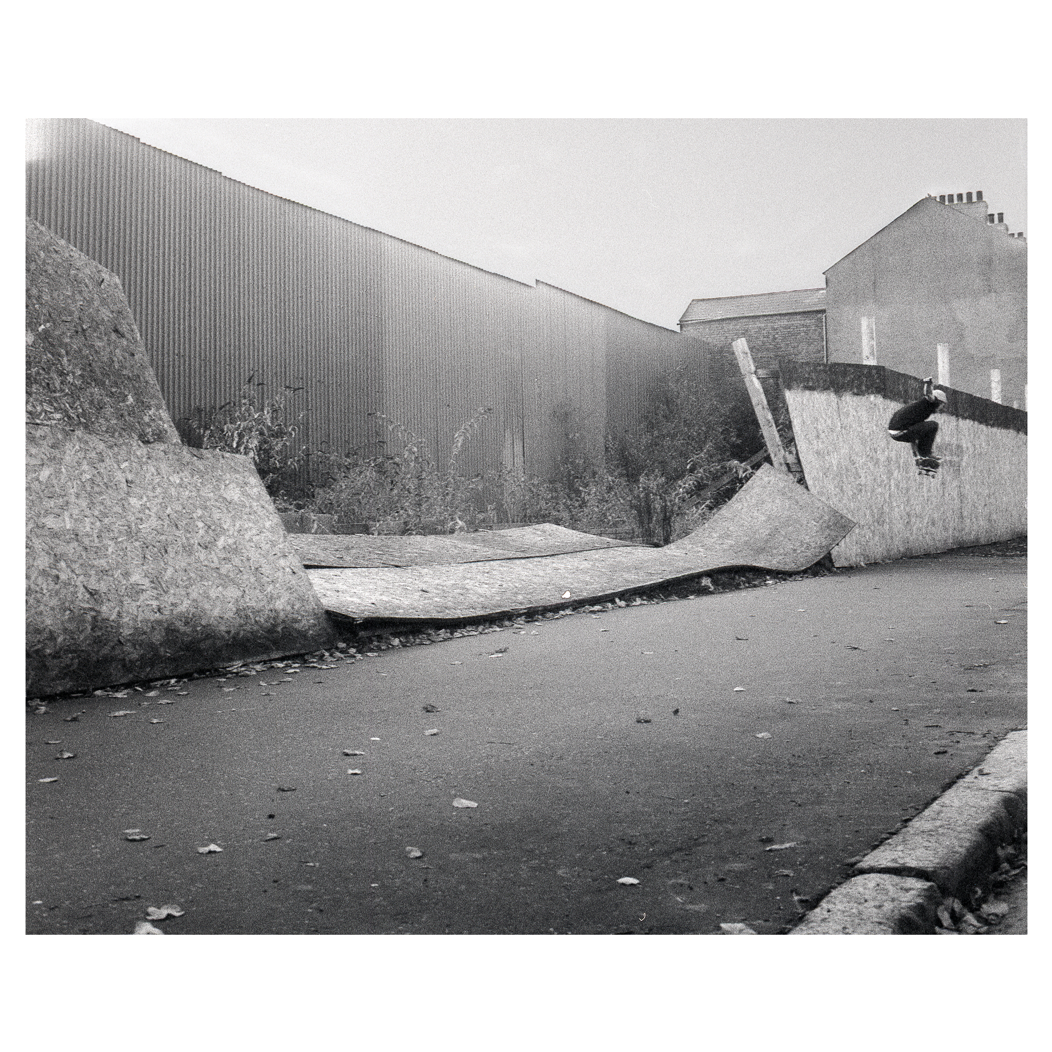 Keith 'Mini' Brown melon grab - Duncan Gardens.  Published in issue 220 of Sidewalk Mag as part of 'Digressions: Stu Robinson's Northern Ireland' article.