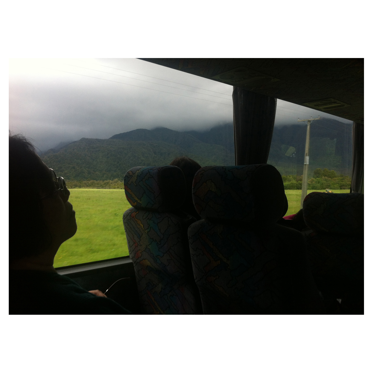 """I wore fisherman's pants all around South East Asia, but you wouldn't catch me wearing them here!"" . Unknown Irish backpacker, Intercity Bus - Franz Josef to Wanaka."
