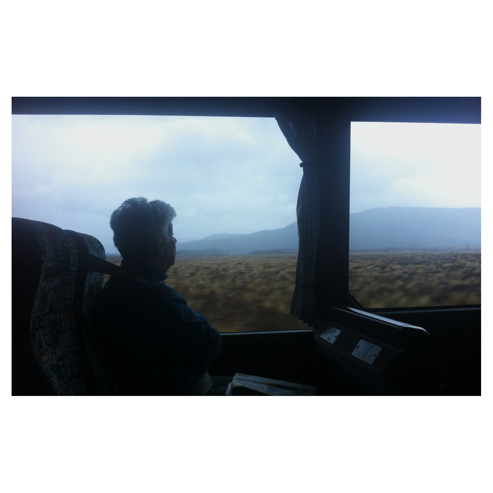 """Fiji was good, it was just too discovered though…""  Miscellaneous American backpacker  - Turangi to Wellington Intercity Bus."