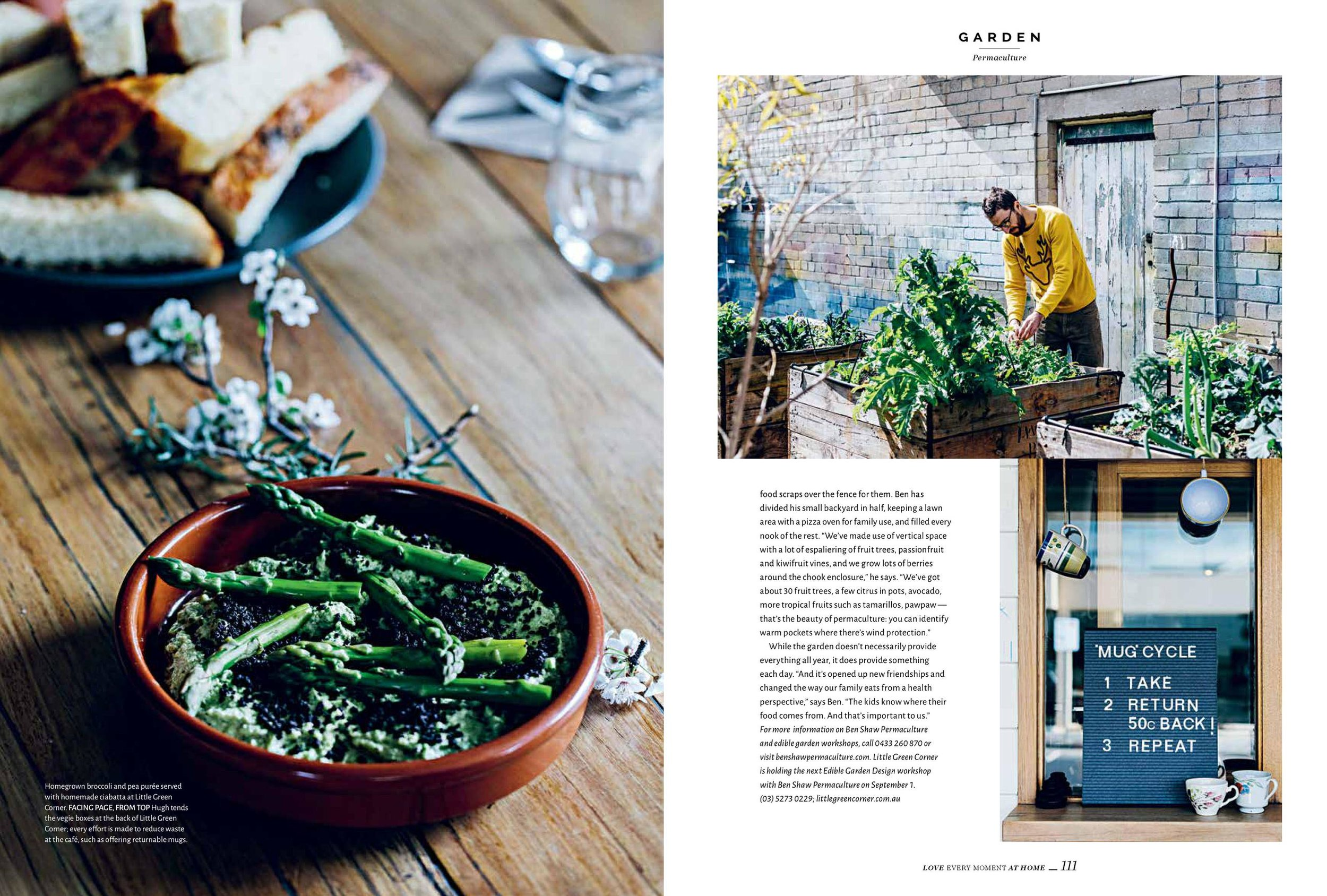 Ben Shaw Permaculture for Homelife magazine, Issue 8. Photos by Melbourne ethical photographer: Marnie Hawson