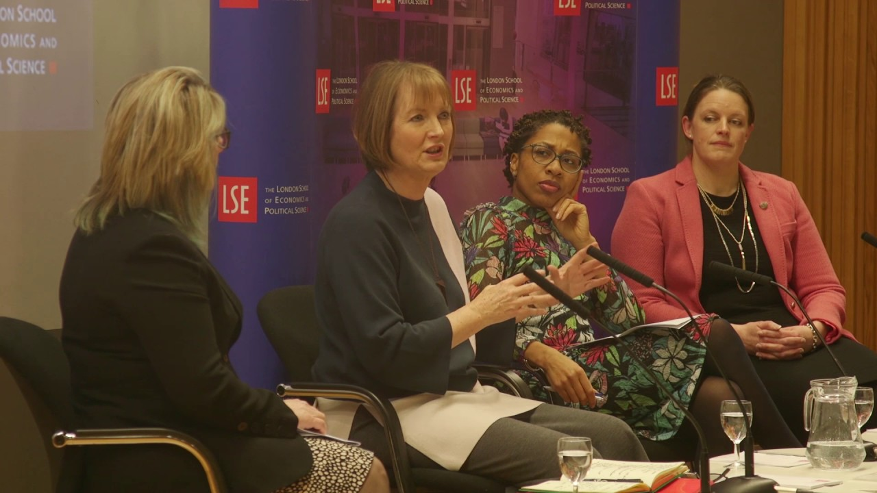 On a panel at London School of Economics (LSE) with Harriet Harman MP -  Women in Work: An unfinished revolution? ( Mar17)