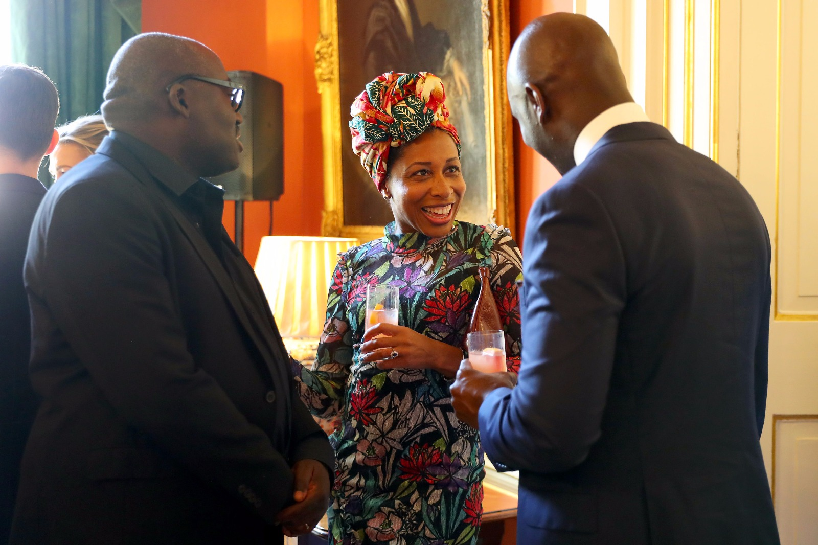 Downing Street London Fashion Week reception with Edward Enninful and guest (Sept18)