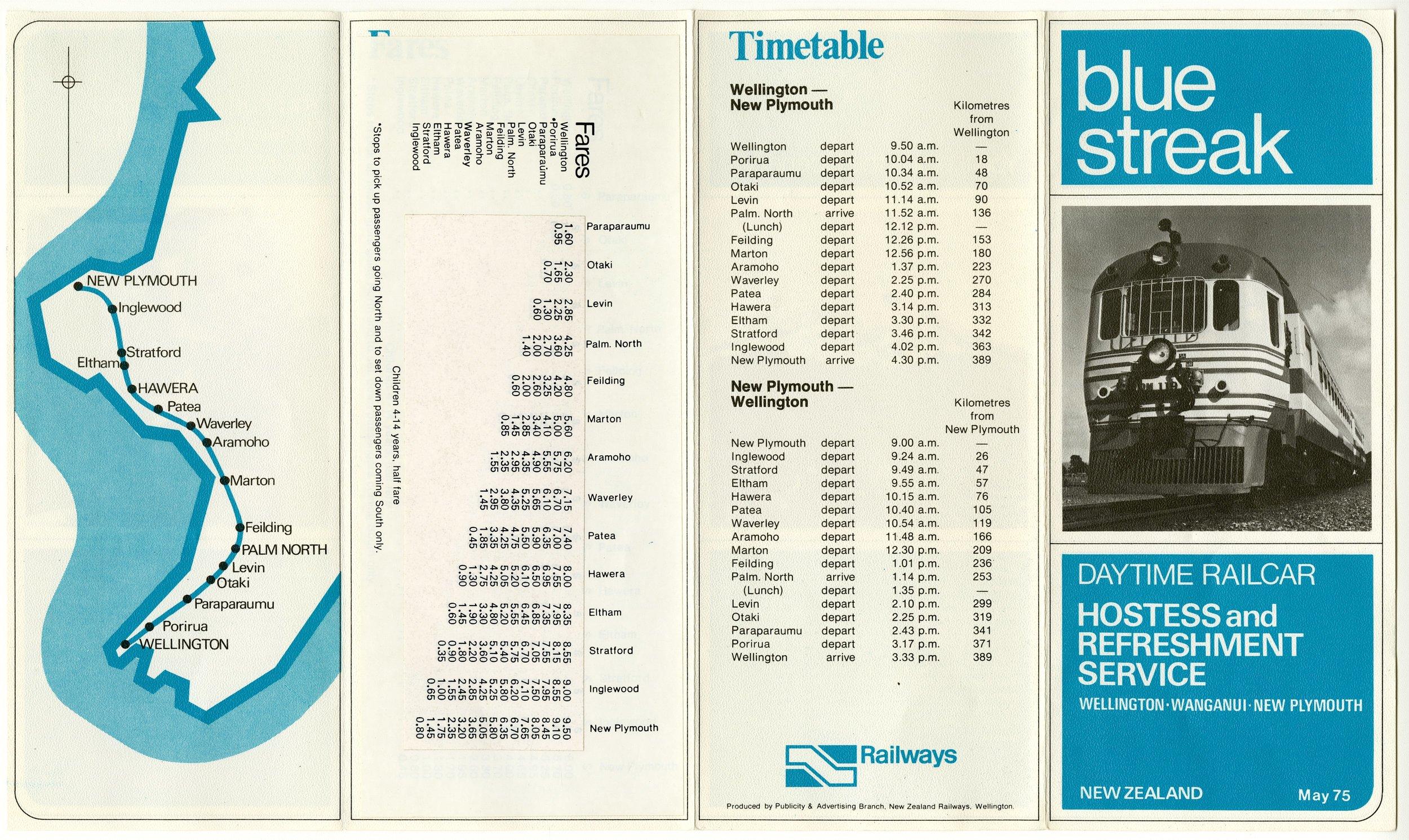 Blue Streak Pamphlet 1975 - Hocken Collections