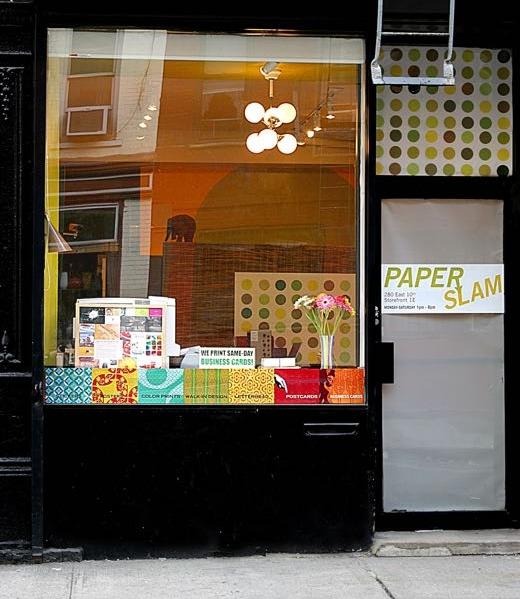 Paper Slam storefront, circa 2005