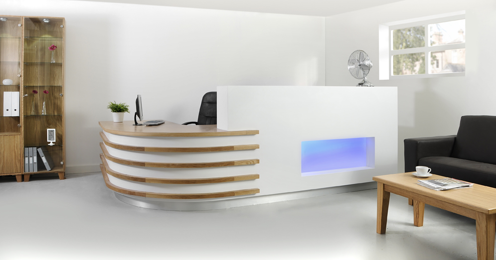 Reception desks. - With a stylish reception suite from Custom Dental & Medical, your visitors, customers or patients will feel confident they are dealing with professionals.Our designs are stylish and practical, creating a relaxed and welcoming environment.