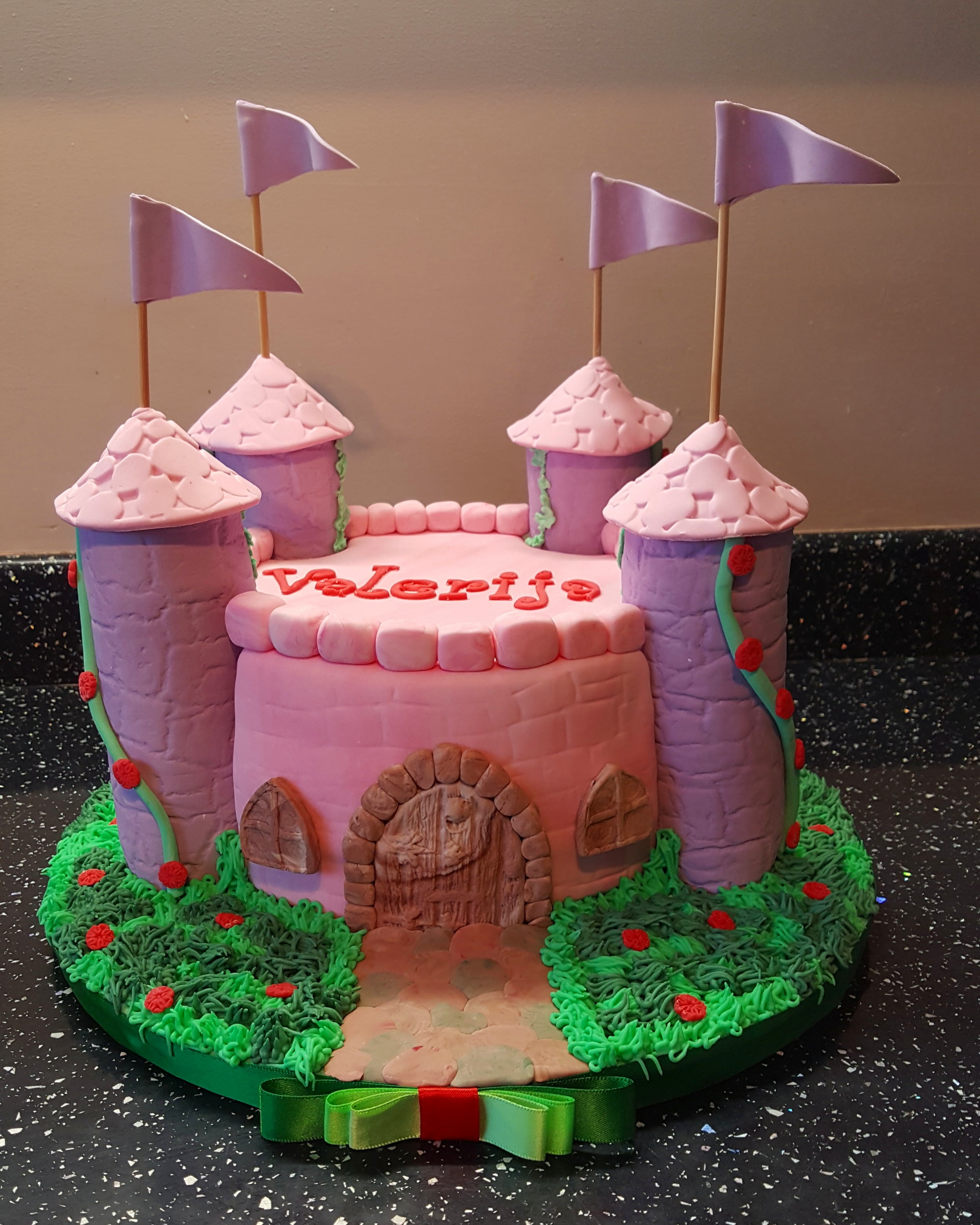 Castle Cake £40 - Colours can be of your choice