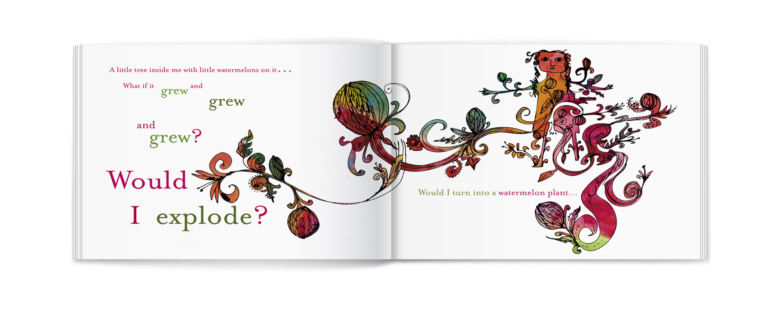 A sample spread from the book