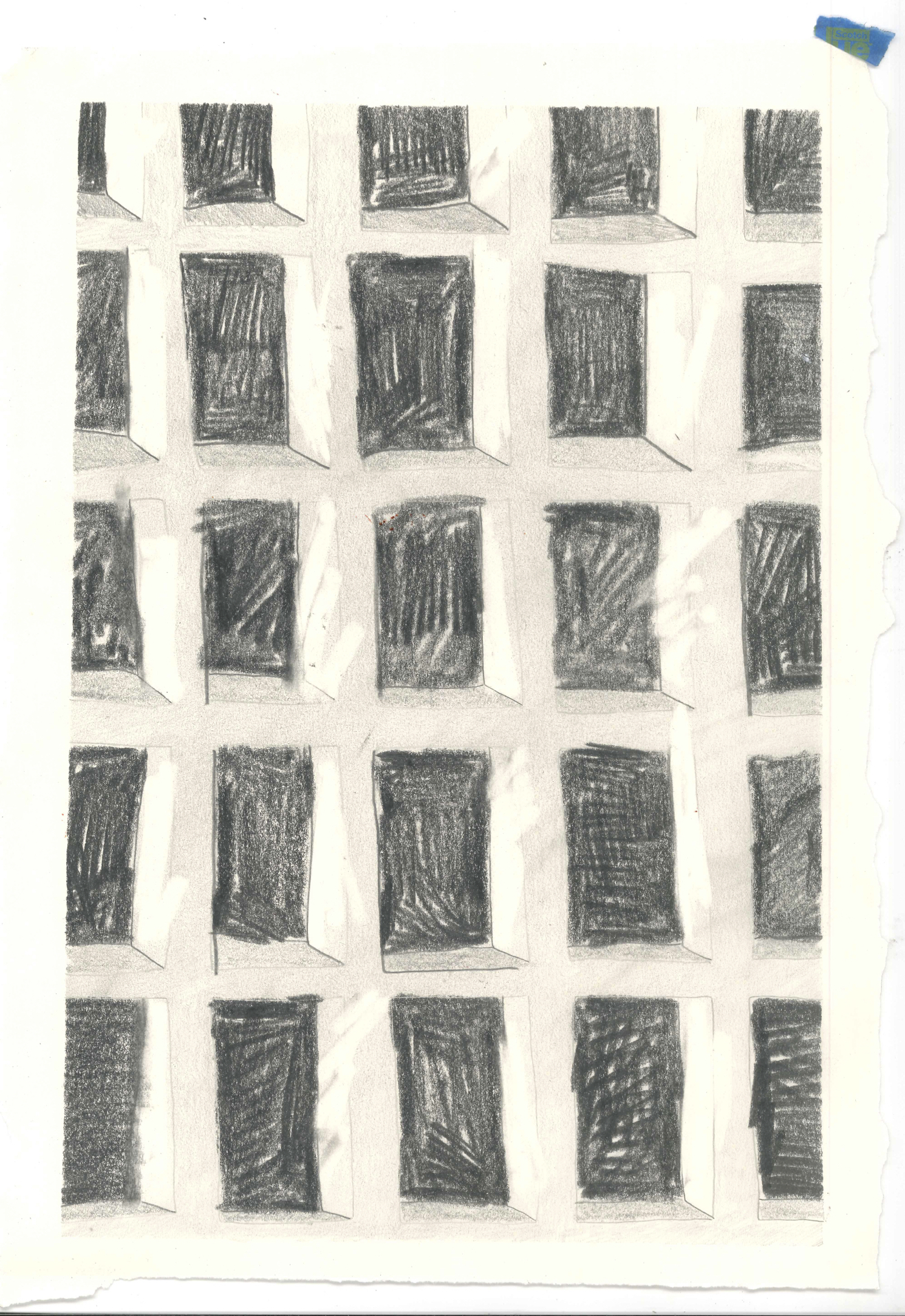 Untitled  graphite on paper  (Spring 2016)