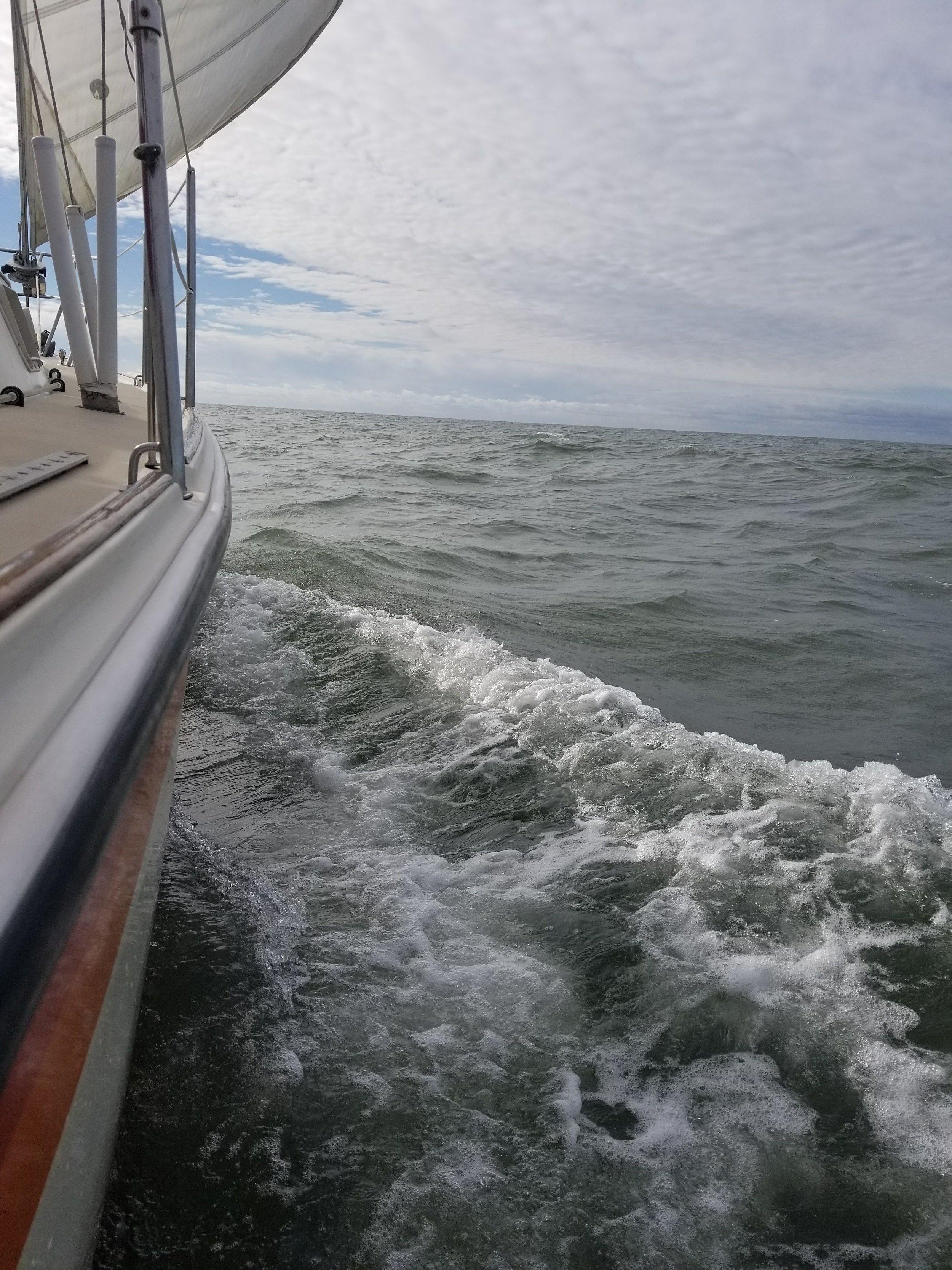 Underway approaching Ocean City, MD.