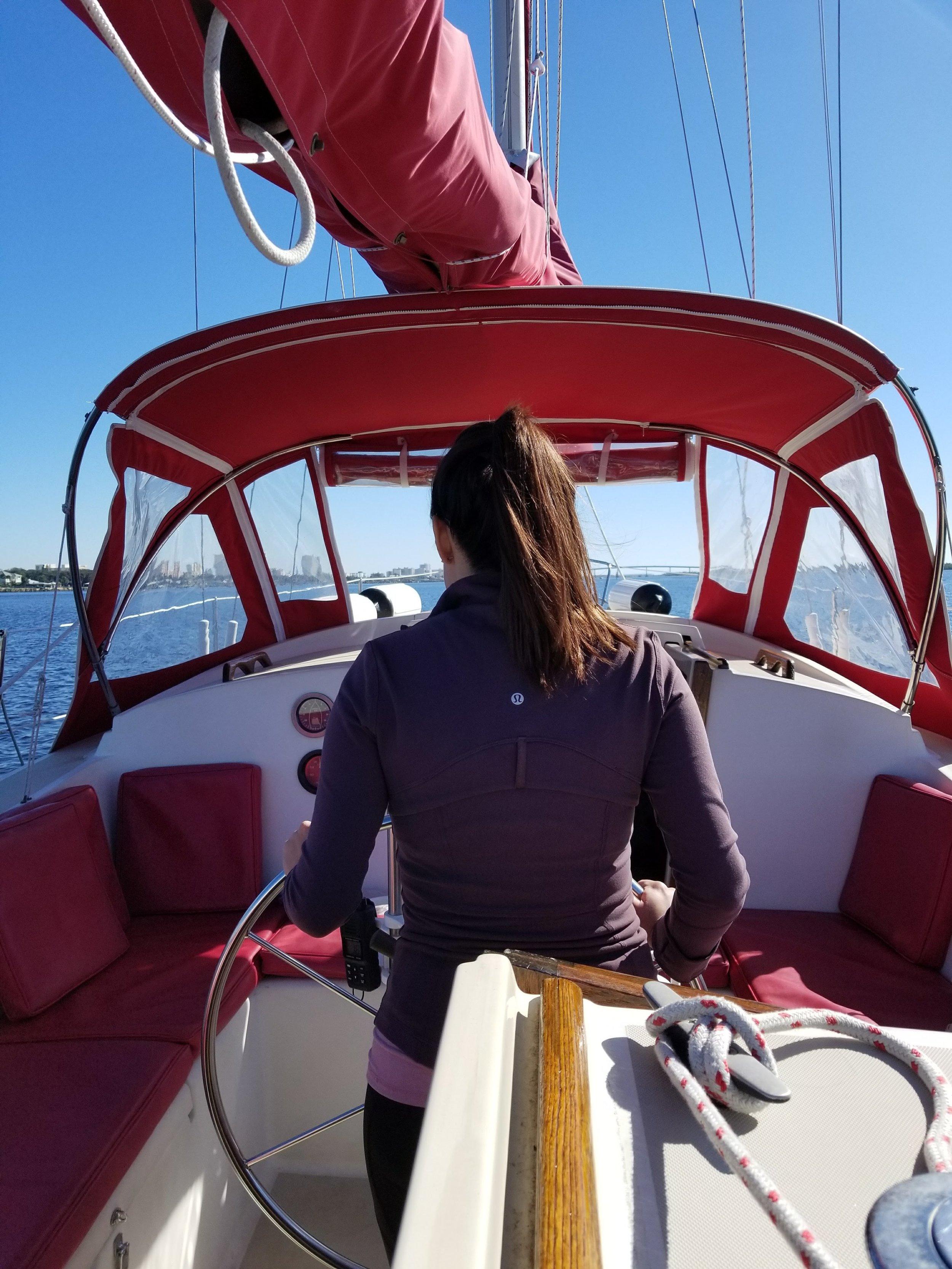 Kelsey behind the wheel headed South towards New Smyrna Beach.