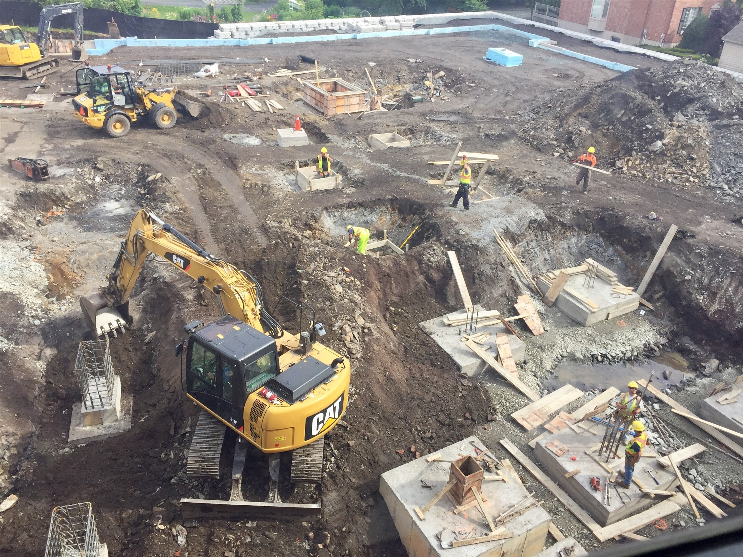 Photo: The Tower Road Campus construction zone.