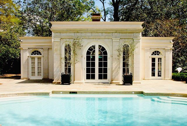 "Hello Summer!!! Pool house and theater for a residence in Shreveport, LA.  Classic styling to match the main house. ___________________________________________________________ ""Shall I compare thee to a summer's day?."" – William Shakespeare ___________________________________________________________ #poolhouse #hometheater #pool #luxuryestate #shreveport #louisiana #classical #louisianaarchitecture #mikemcswainarchitect #architect #architecture #design #building #architecturelovers #archilovers #archdaily #architektur #architettura #arquitectura #هندسة معمارية #建筑 #архитектура #आर्किटेक्चर"