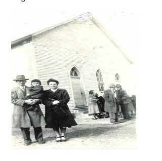 - Our first full time Pastor (1946-1951) Brother Elton Wilson, his wife Dean, and their first son Leon.