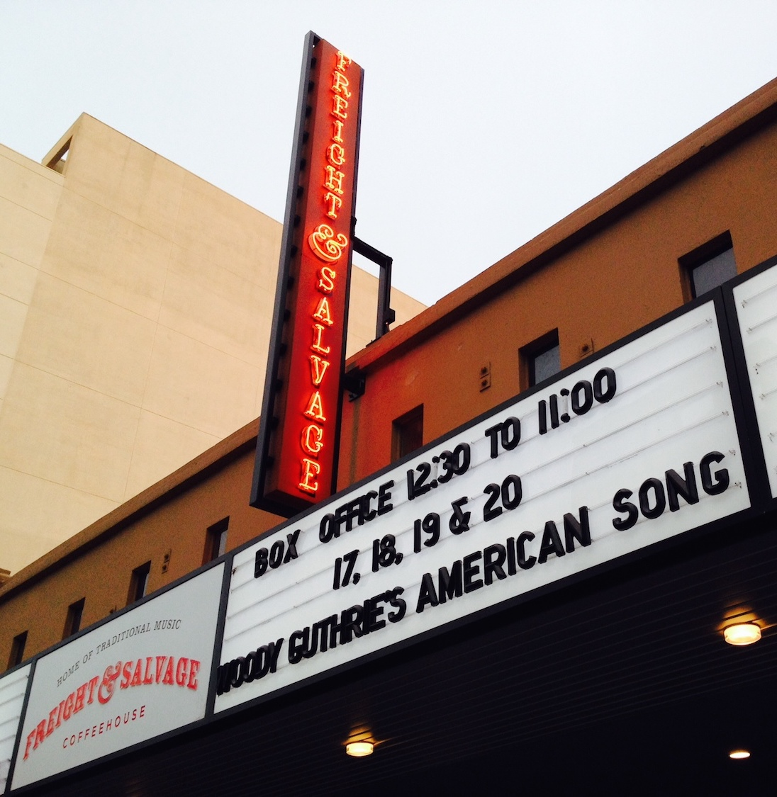 Freight & Salvage Coffeehouse Marquee, Berkeley, CA (2014)