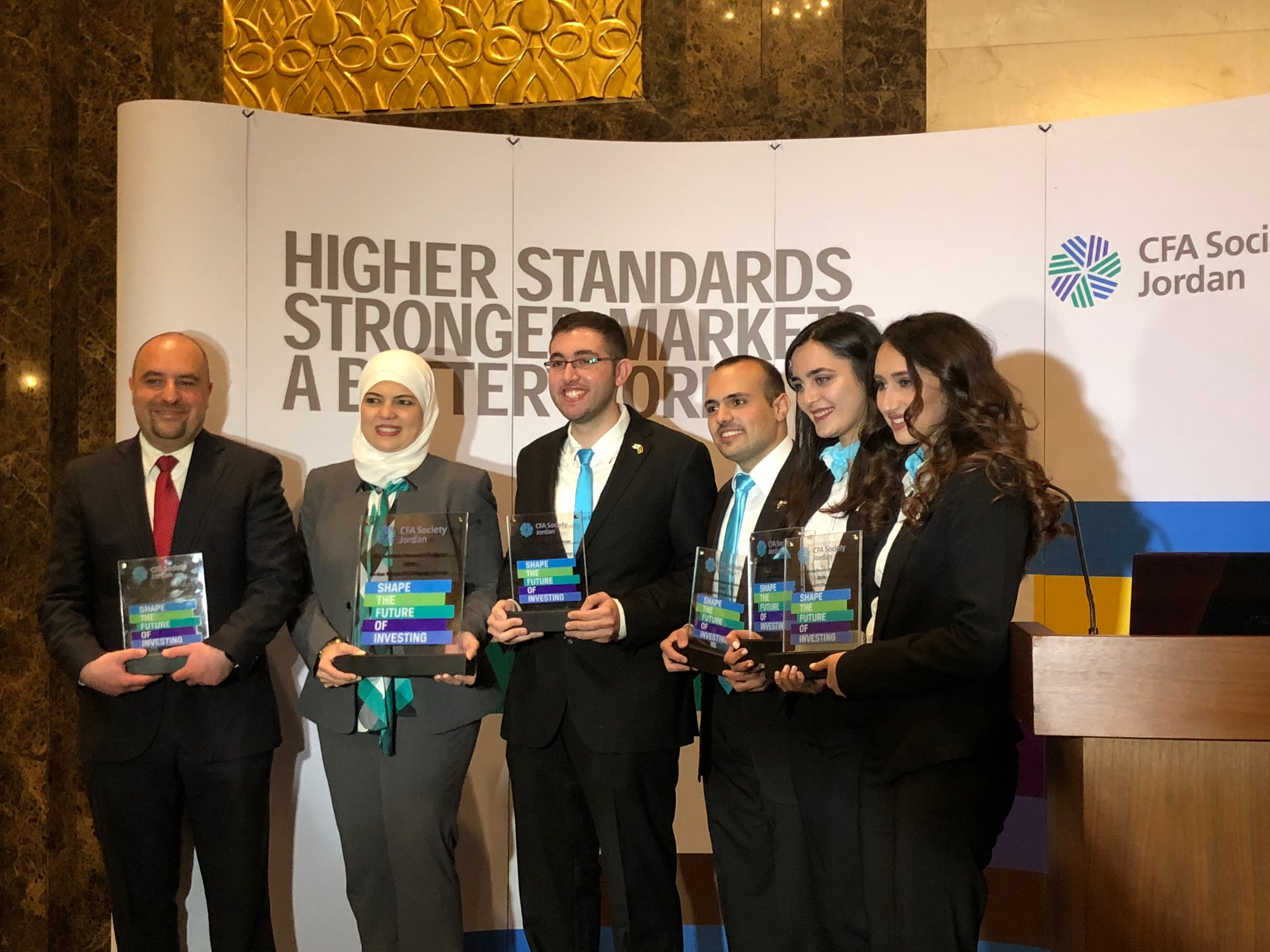 CFA Research challenge 2018 - CFA Society Jordan announced the winner of the CFA Institute Research Challenge at an event held recently at the Four Seasons Hotel in Amman. Princess Sumaya University for Technology came in first place and will represent Jordan at the EMEA Regional Competition in Dublin, Ireland in April. University of Jordan was named as the runners-up and will represent Jordan at the Arab Societies Research Challenge Final in Dubai in March.