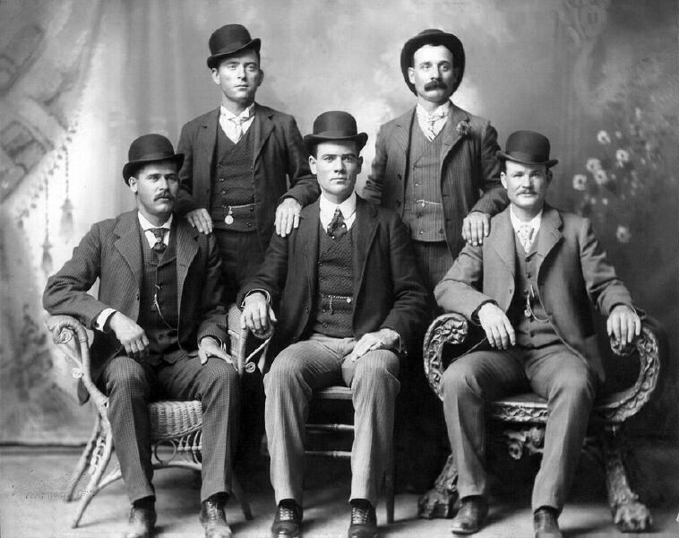 The Wild Bunch in Fort Worth, Texas circa 1900.