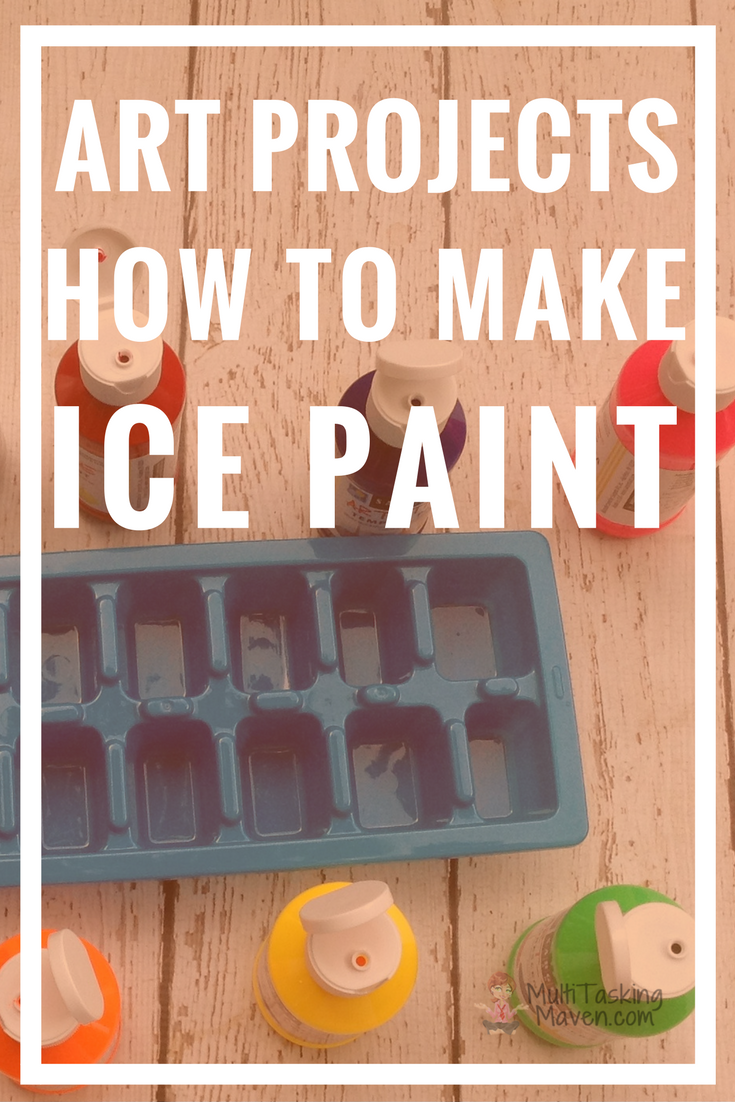 How to Make Ice Paint      is a great alternative to traditional painting and a fantastic sensory experience.   How to Make Ice Paint  tutorial requires a little preplanning, but the results are out of this world and your children will love the process.  This is a great year-round activity!  Step by step instructions, materials list, and video tutorial. Step by step tutorial http://multitaskingmaven.com/blog/how-to-make-ice-paint