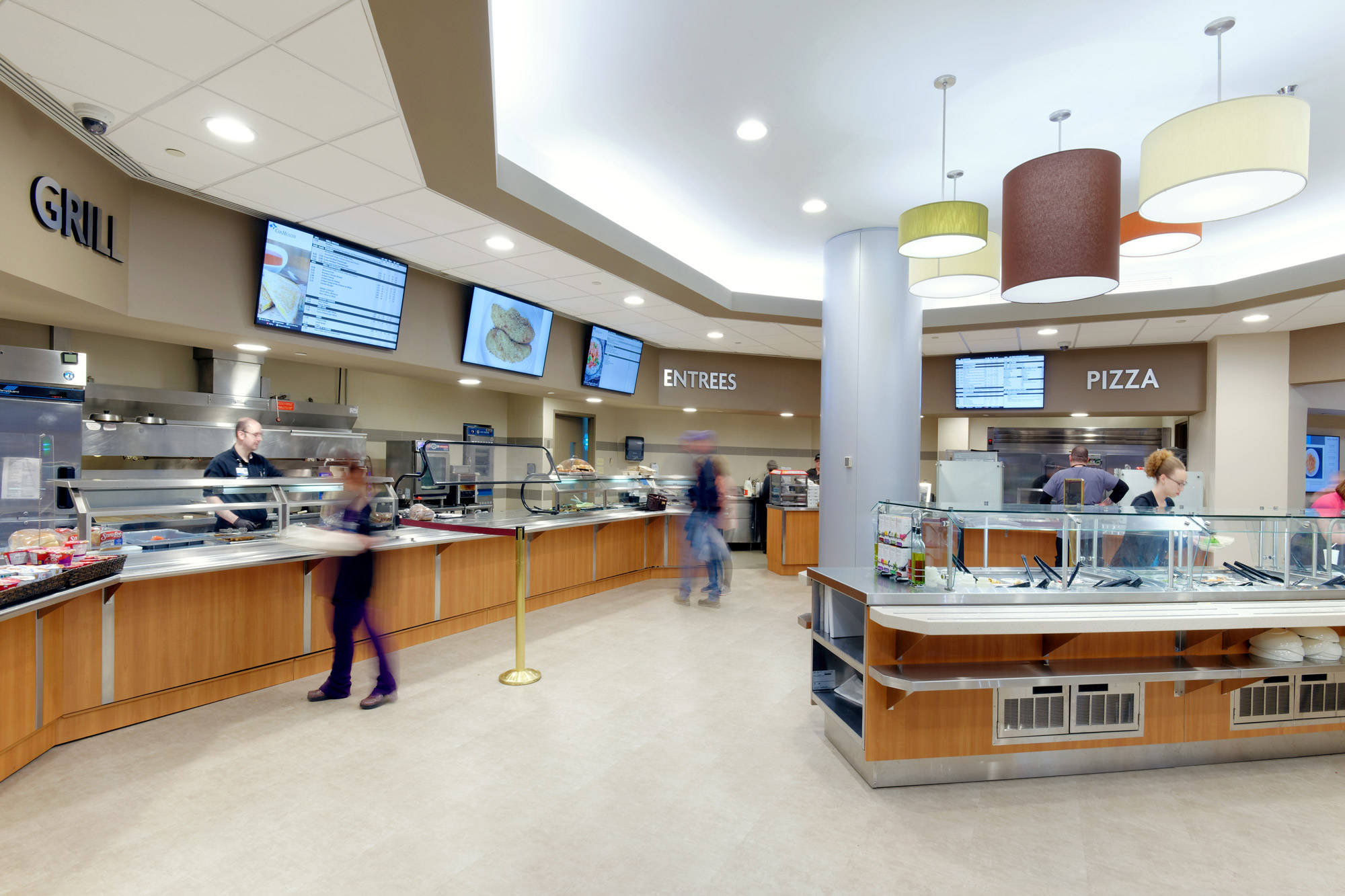 Interior renovation of the cafeteria at CoxHealth South in Springfield, Missouri