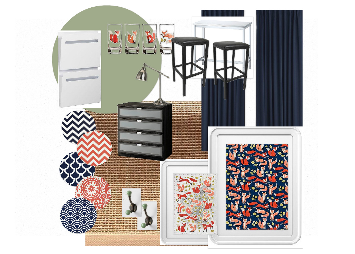 Whimsical Navy and Coral Home Office.jpg