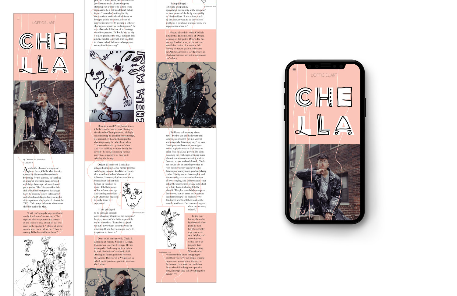 Chella Man Steffi Lai Design Illustration