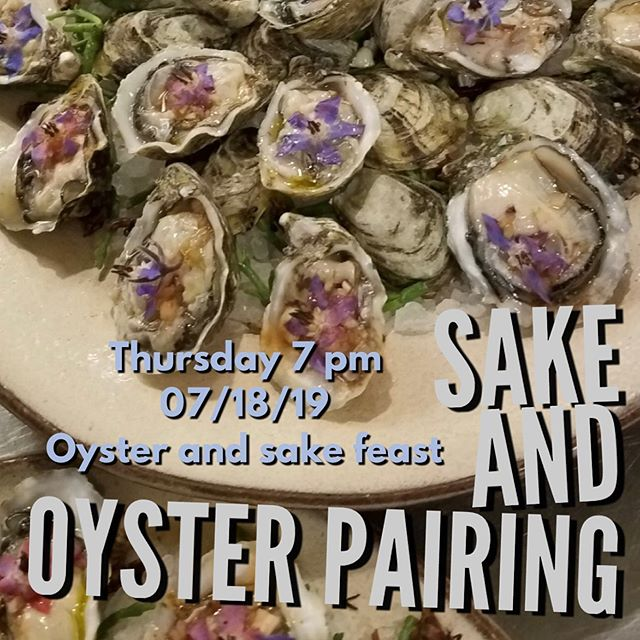 Our next in house event is on Thursday 7/18! You can buy ticket direct from our Facebook page or through eventbrite.com!  #sake #oysters #drinklocalsake #sandiego #supportlocal