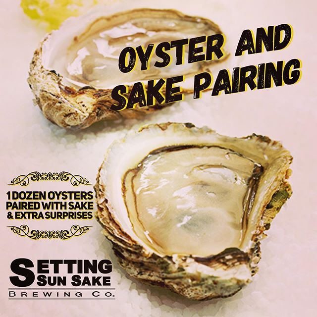 Today is the LAST DAY to buy a ticket to this event that's happening this Thursday!!! We've sold about half the tickets....come join us for this epic oyster & sake feast! Find tickets through our Facebook page or eventbrite. #drinklocalsake #sandiego #supportlocal #settingsunsakebrewingco #oysterandsakepairing