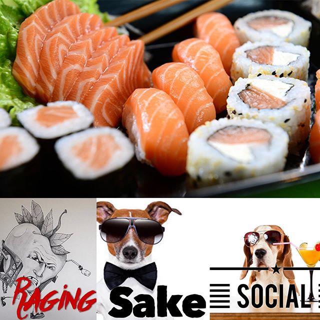 Are you party animals ready to get social? #sake #social #aycesushi