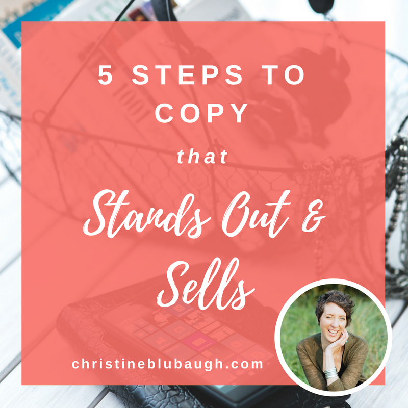 5 STEPS TO COPY THAT SELLS FROM CHRISTINE