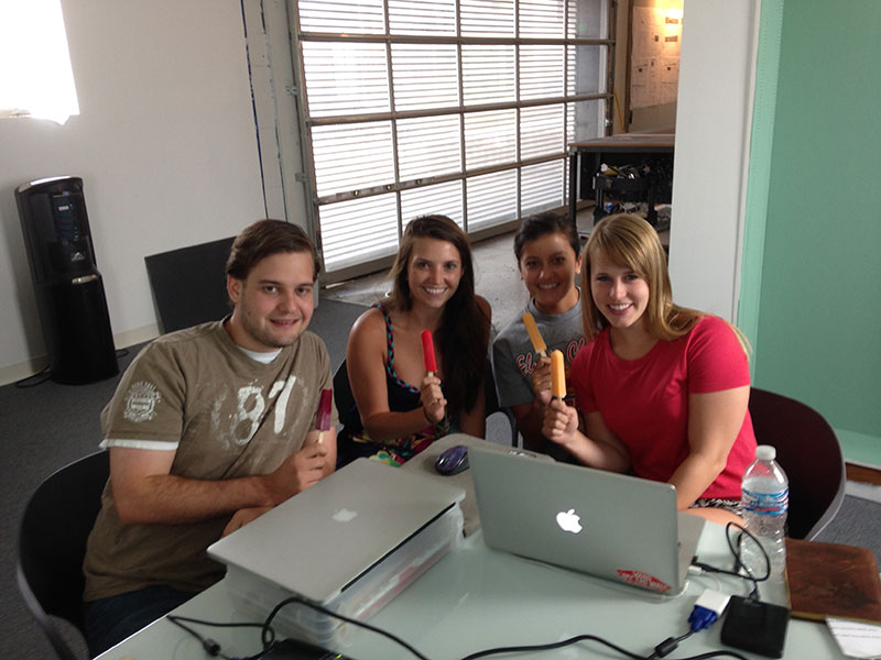 2014_Associates Alex Kelley, Staci Carrier, Alyssa Garcia, and Haley Wolfe