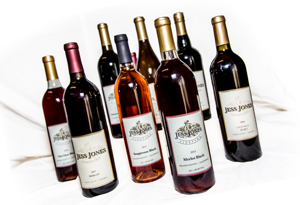 Jess Jones VineyardWine Club - As a member, you will enjoy varietals, blushes and ports from Jess Jones Vineyard throughout the year. Just pick up your order at the Tasting Room during our quarterly Wine Club member Pick-Up Parties. It's simple and there is no fee required to join!
