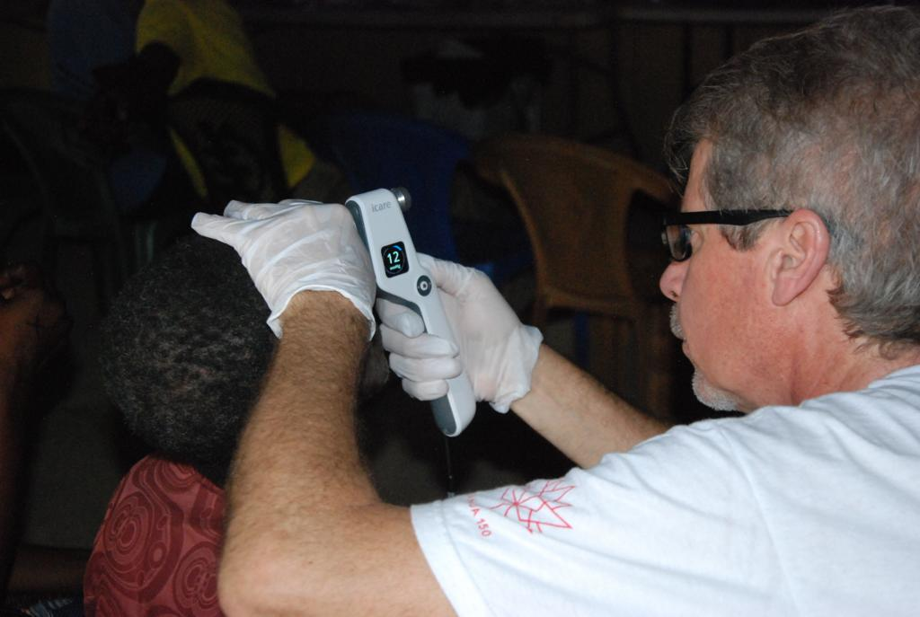 Intraocular pressure check