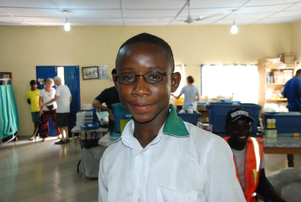 Emmanuel with new glasses