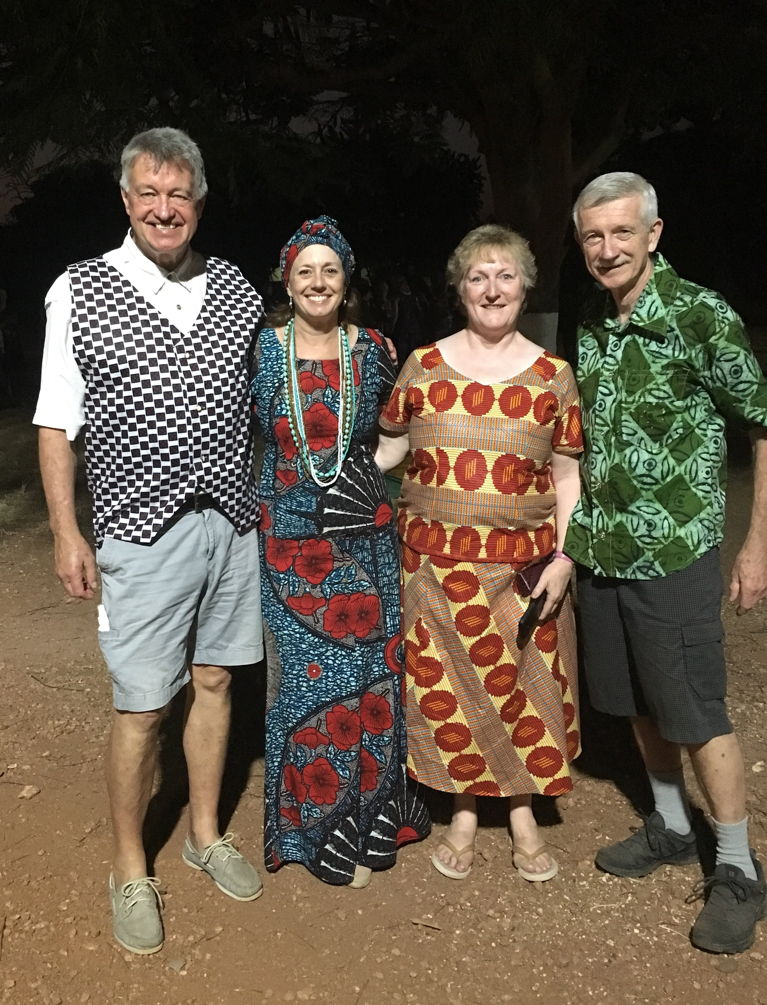 Four missionaries from Christ Church.  L-R: Dr. Martin, volunteer Jane, Nurse Anne and Dr. Andy