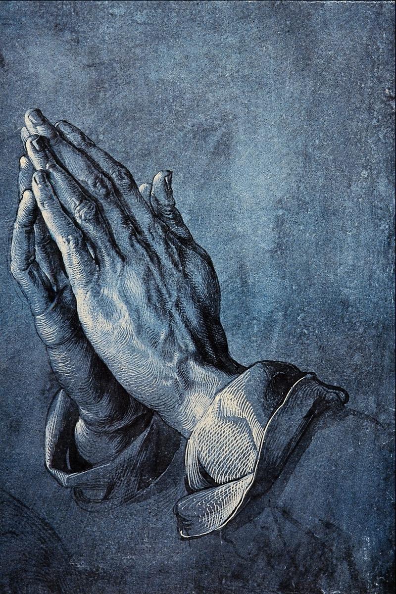 """Praying Hands, or Study of the Hands of an Apostle"" by Albrecht Dürer 1471-1528"