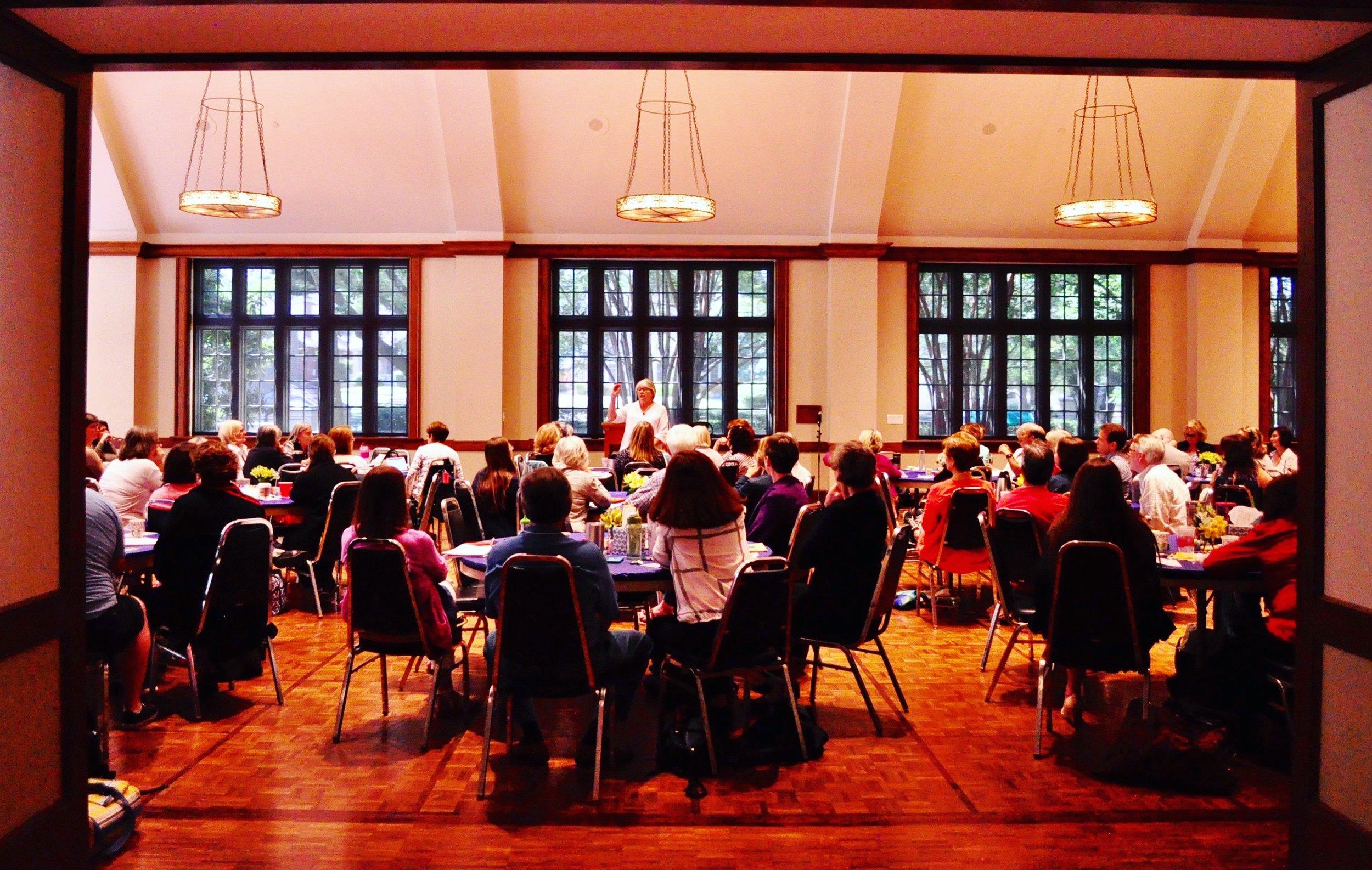 Suzanne teaching in Dallas, TX