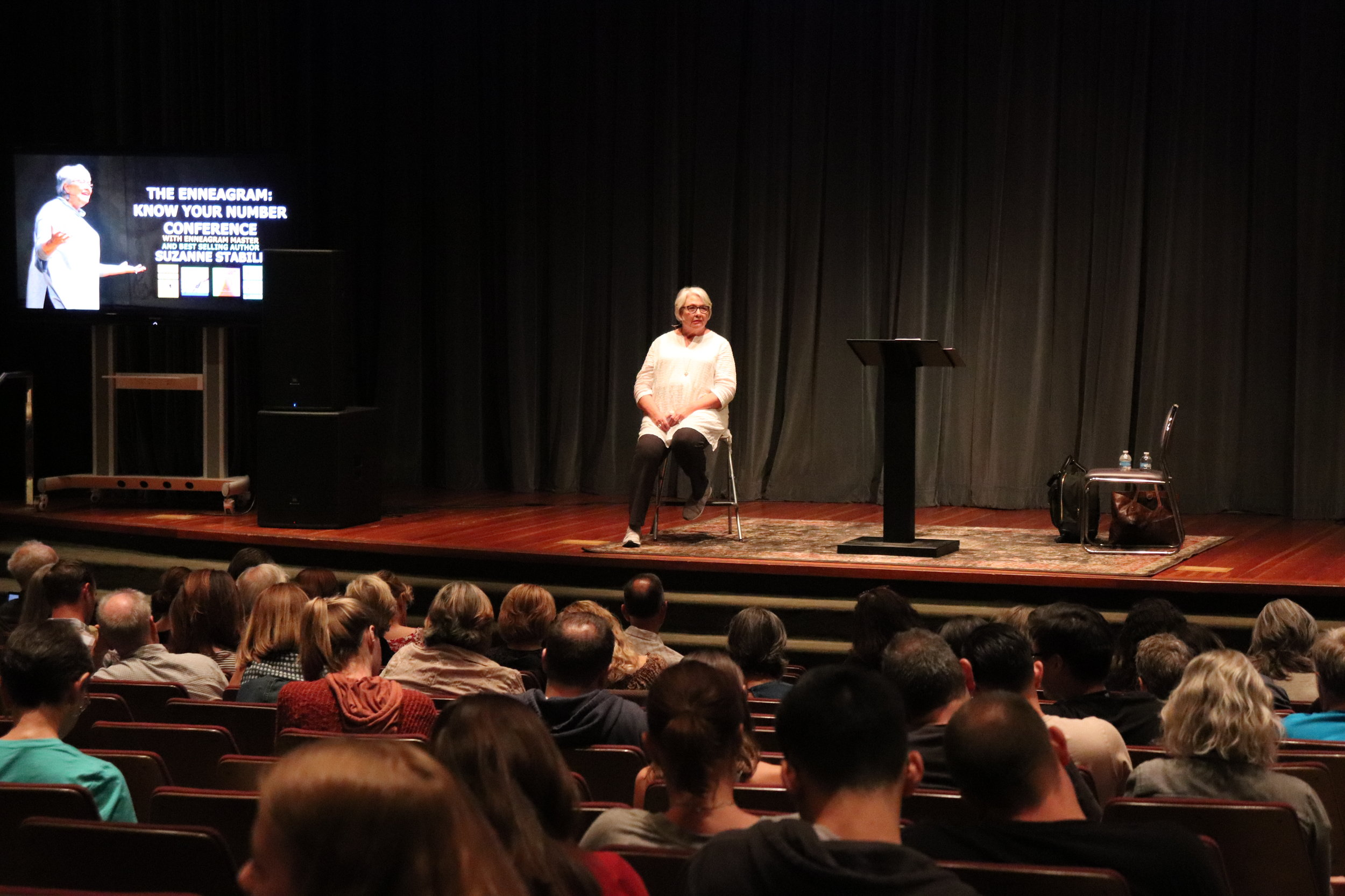 Suzanne teaching in Los Angeles in September 2018