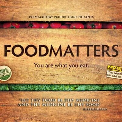 4. Food Matters - Website: http://www.foodmatters.com/Trailer: https://youtu.be/r4DOQ6XhqssOn Netflix? Yes!