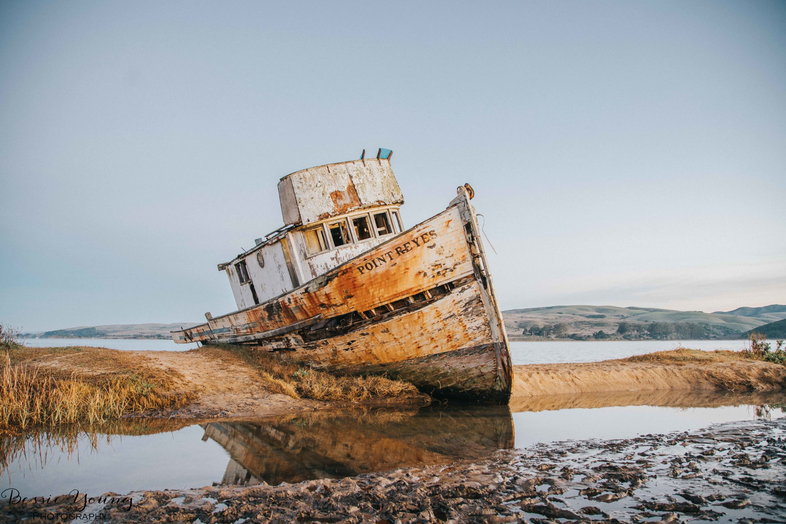 Point Reyes National Seashore Ship Wreck by Bessie Young