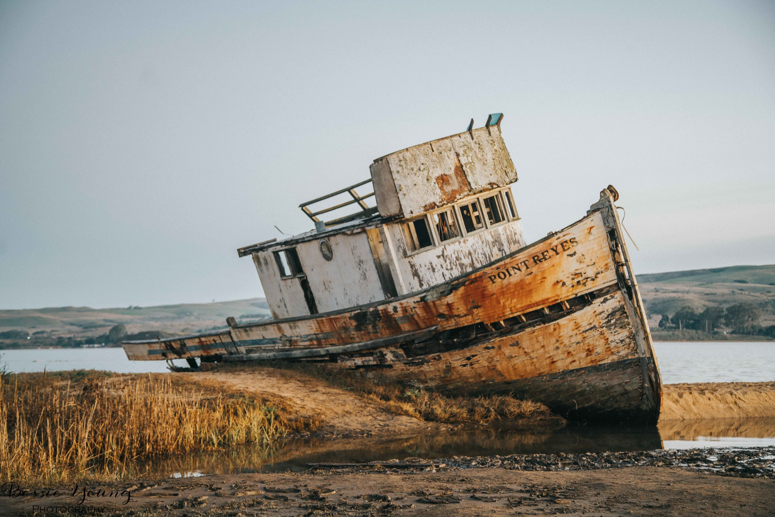 Ship Wreck in Point Reyes by Bessie Young