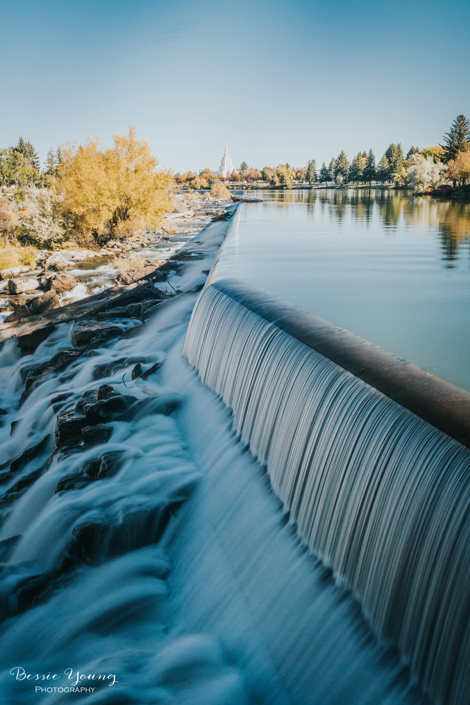 Idaho Falls, Idaho  Landscape Photography waterfall photographphotographed by Bessie Young
